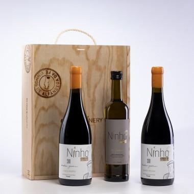 Pack 3 garrafas c/Caixa (2 Grande Reserva Tinto 2018 + 1 Azeite Extra Virgem 500 ml)